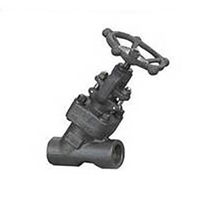 A182 F11 Y Pattern Forged Globe Valve, BS 5352, 2IN, CL2500, BW