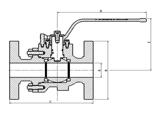 2 Piece Side Entry Floating Ball Valve