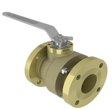 Brass 2 Piece Side Entry Floating Ball Valve, 1/2 to 10IN