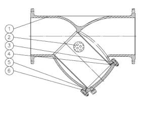 Drawing: Y Strainer, BS 1873, ASME B1634